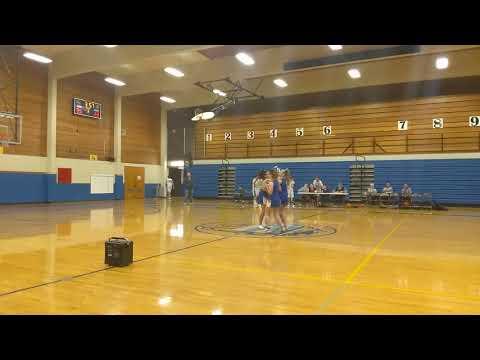 North bend middle school, North bend Oregon, cheer, half time, bullpups