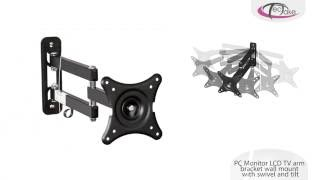 TecTake - TV arm bracket wall mount with swivel and tilt