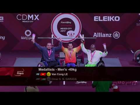 Men's Up to 49kg | Victory Ceremony | Mexico City 2017 World Para Powerlifting Championships