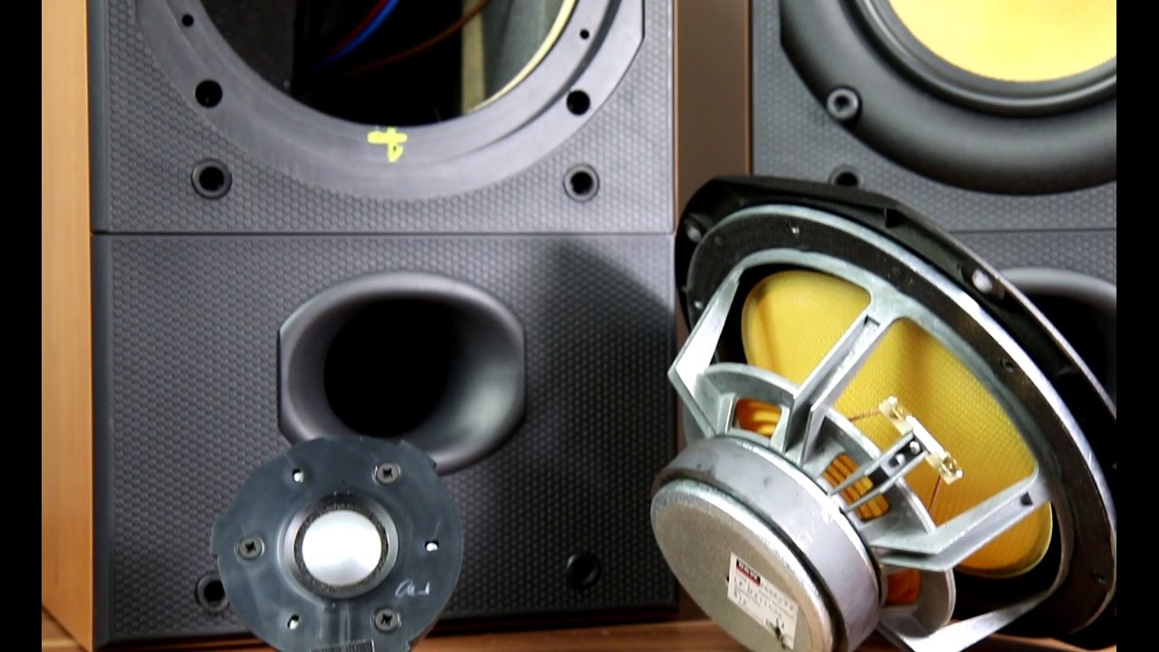 Bowers and Wilkins DM602 S2 look inside the speakers  YouTube