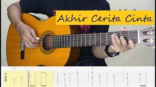 Download Lagu AKHIR CERITA CINTA - Glenn Fredly - Fingerstyle Guitar Tutorial TAB. mp3