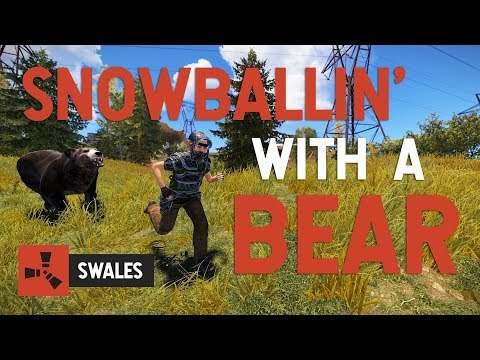 SNOWBALLING WITH A BEAR  - RUST thumbnail