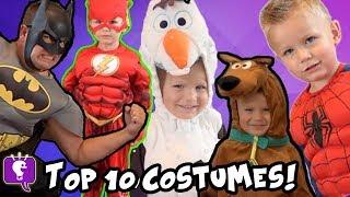 KIDS BEST COSTUMES! Hero Battles + BOWLING as HEROES  Flashback Show HobbyKidsTV