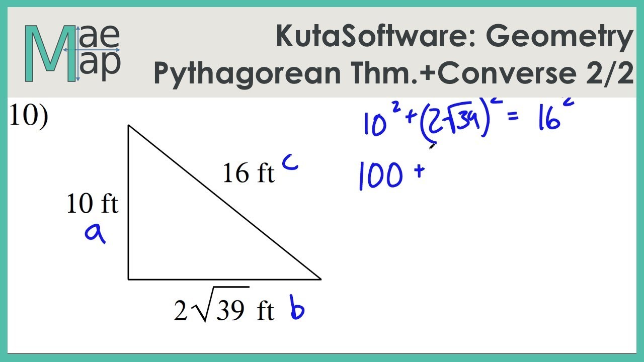 KutaSoftware: Geometry- The Pythagorean Theorem And Its Converse ...