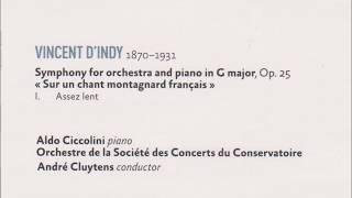 ダンディ フランスの山人の歌による交響曲第1楽章 クリュイタンス指揮パリ音楽院O.