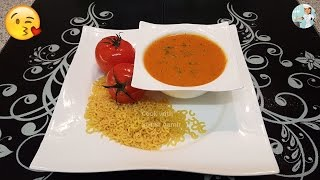 Tomato Macaroni Soup ٹومیٹو میکرونی سوپ  / Cook With Saima