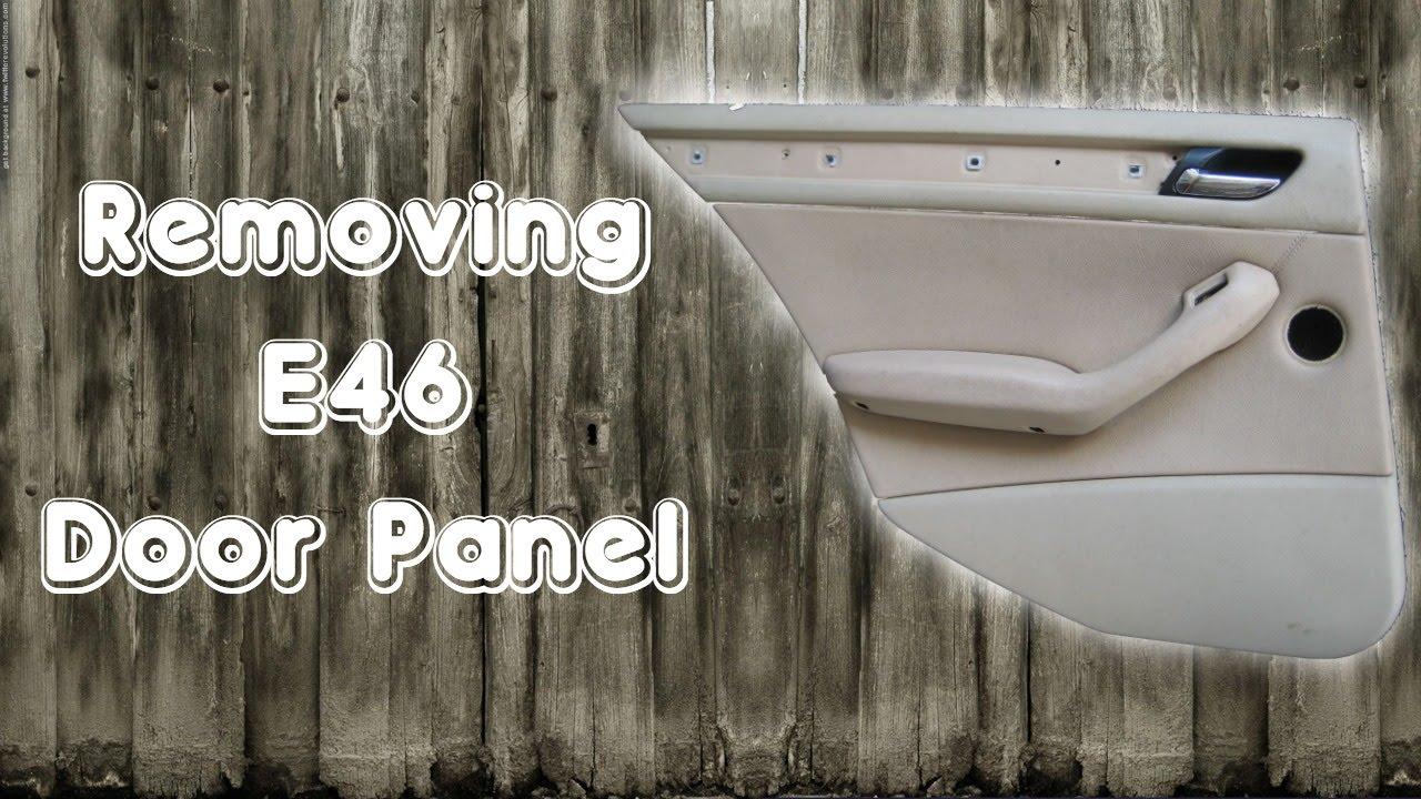 For BMW E46 323i 325i 325Xi 328i 330i Rear Passenger Right Door Panel Insulation