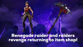 Fortnite bringing back (EVERY) rare skin / RENEGADE RAIDER / RAIDERS REVENGE