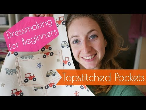 Topstitched Pockets with Rolled Hem - Dressmaking for Beginners - Sewing Lessons