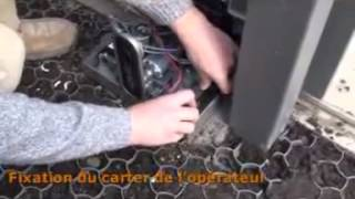 FAAC C720   Montage Automatisme portail coulissant 2ème partie