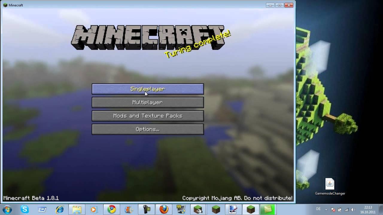 Minecraft Modus ändern