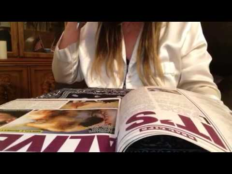 ASMR, Globe Tabloid (Pt 1), Headlines, Ads, Soft Spoken, Turning Pages, Pen Clicks, Coffee