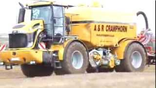 A & R Cramphorn Slurry injecting with Challenger Terra-Gator 845
