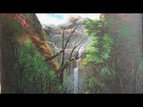 The watering in nature| acrylic landscape painting | paint with joy | 26