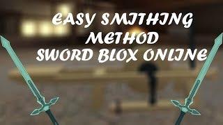 Sword Blox Online | Fastest Smithing Method | Roblox