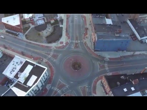 Aerial Video of Downtown Glens Falls