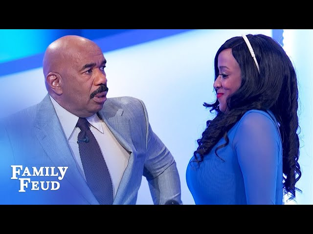 OMG. Shannon isn't so shy after all! | Family Feud