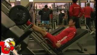 FIFA World Cup 2010 - North Korea training in public gym