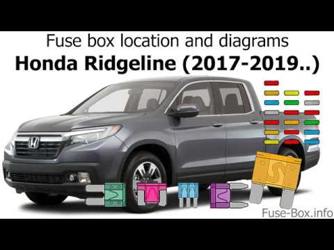 [ANLQ_8698]  Fuse box location and diagrams: Honda Ridgeline (2017-2019..) - YouTube | 2007 Honda Pilot Fuse Box |  | YouTube