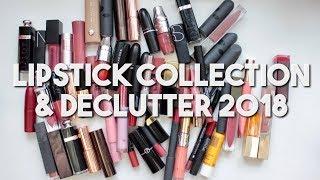 Makeup Collection & Declutter 2018 | Lipsticks