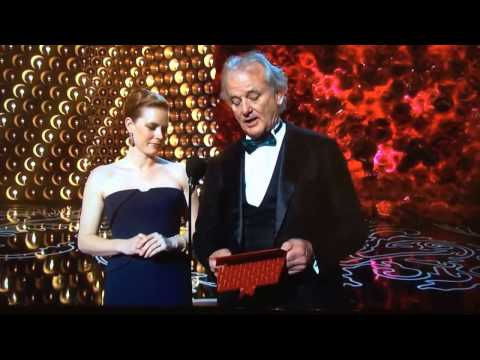 Bill Murray improve nod to Harold Ramis at 2014 Oscars
