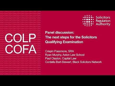 The next steps for the Solicitors Qualifying Examination - Compliance Officers Conference 2017
