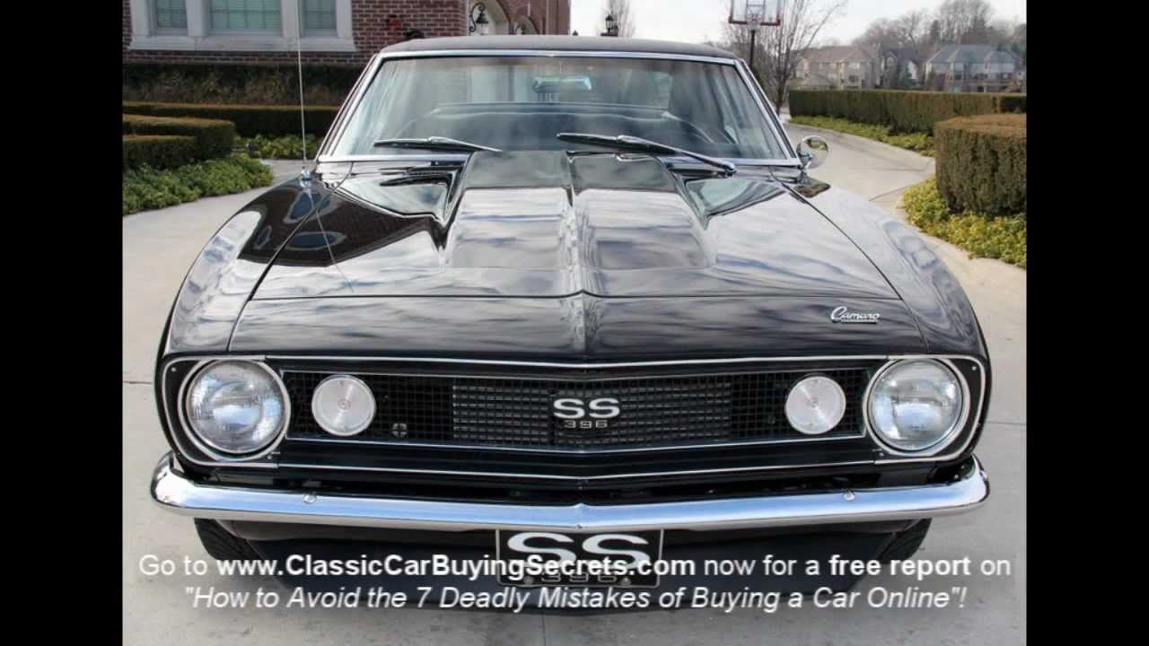 1967 Chevy Camaro Triple Black Classic Muscle Car for Sale ...