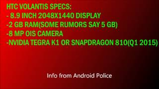 HTC Volantis/Nexus 9 Tablet Rumors!