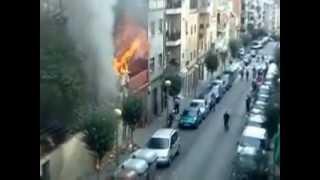 Incendio en Badalona, explosión de gas (Grabado desde Samsung) NOTICIA IMPACTANTE