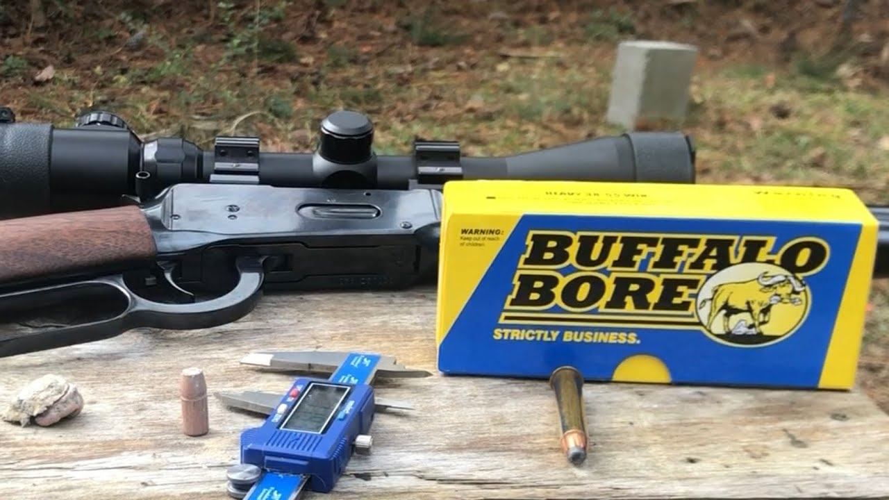 Buffalo bore 38-55 bullets vs water jugs at 100 yards with 94 Winchester trails end