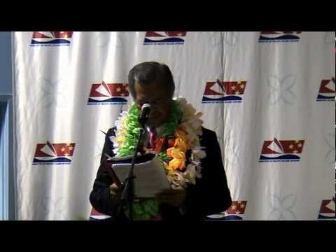 Cook Islands Prime Minister Speech