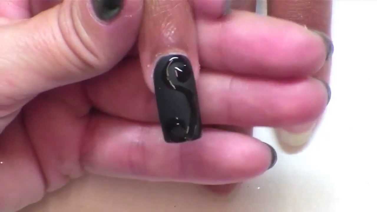 Black Matte And Glossy Nail Art Design Youtube