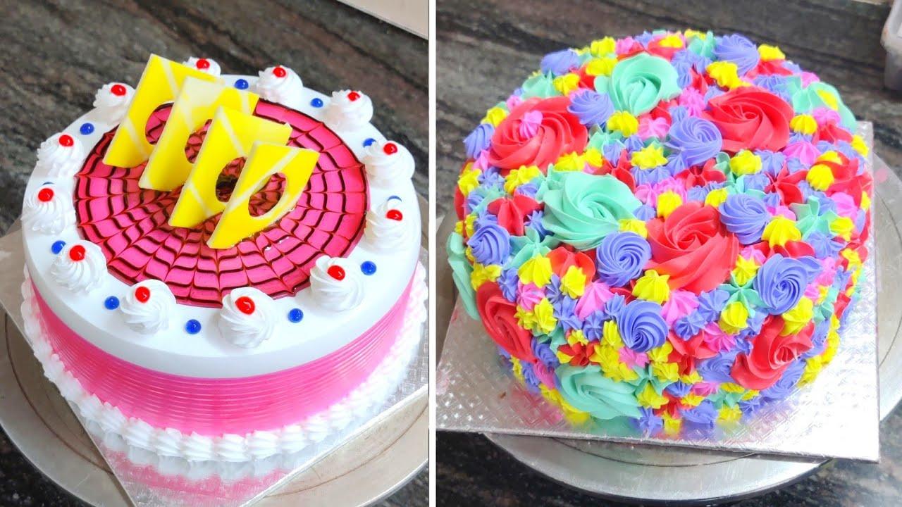 color full cake design | Pineapple Cake Design