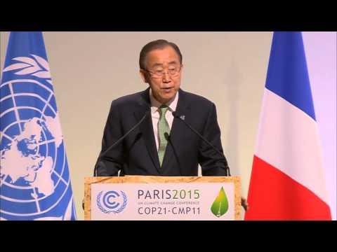 UN Secretary-General Ban Ki-moon at the COP21 Climate Change Conference (Paris, 30 November 2015)