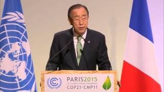 UN Secretary-General Ban Ki-moon at the COP21 Climate Change Conference (Paris, 30 November 2015)