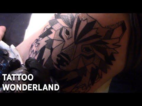 Tattoo Wonderland - Breaking The Chains - Geometric Wolf And Chains Tattoo