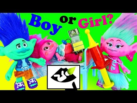 TROLLS POPPY PREGNANT Boy or Girl Hospital Visit Doctor Check Up Trolls Movie Branch Married Parody