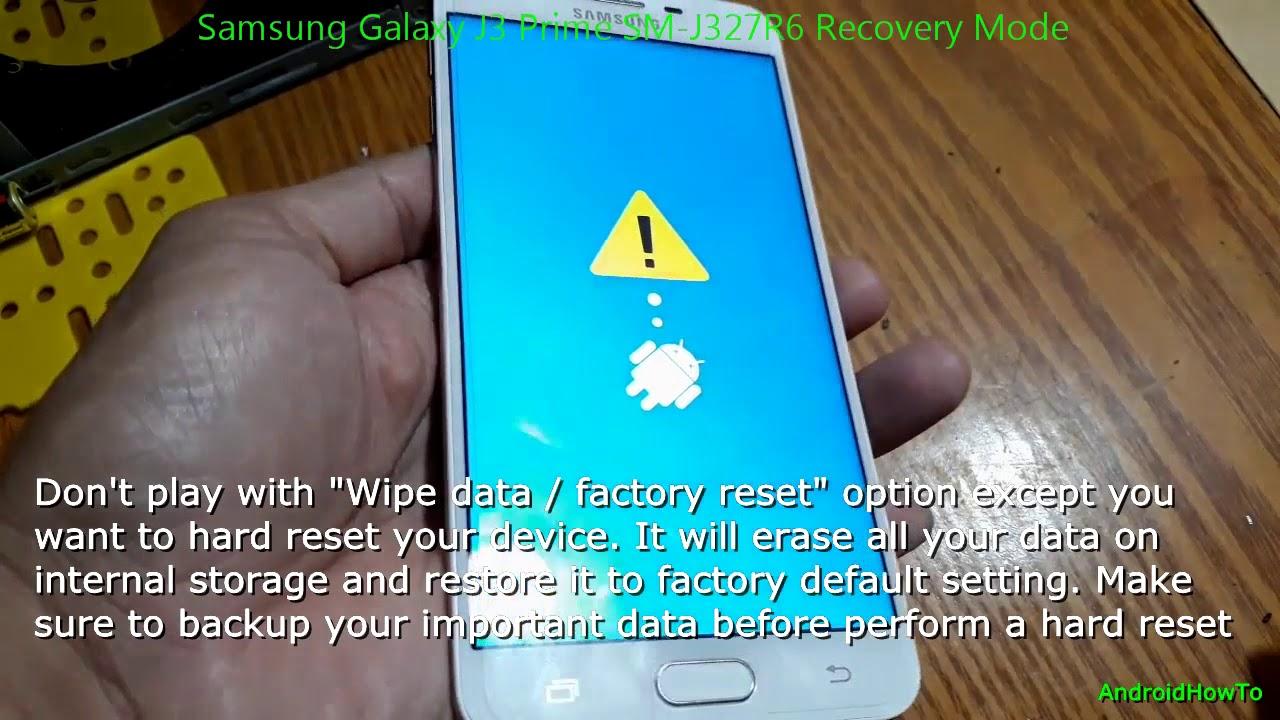 Samsung Galaxy J3 Prime SM-J327R6 Recovery Mode