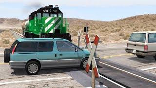 Train Close Calls & Near-Miss Accidents | BeamNG.drive