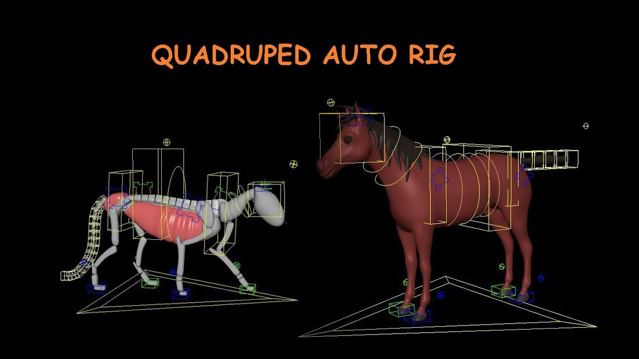Quadruped auto rig