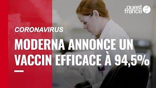 Moderna annonce que son vaccin contre le Covid-19 est efficace à 94,5%