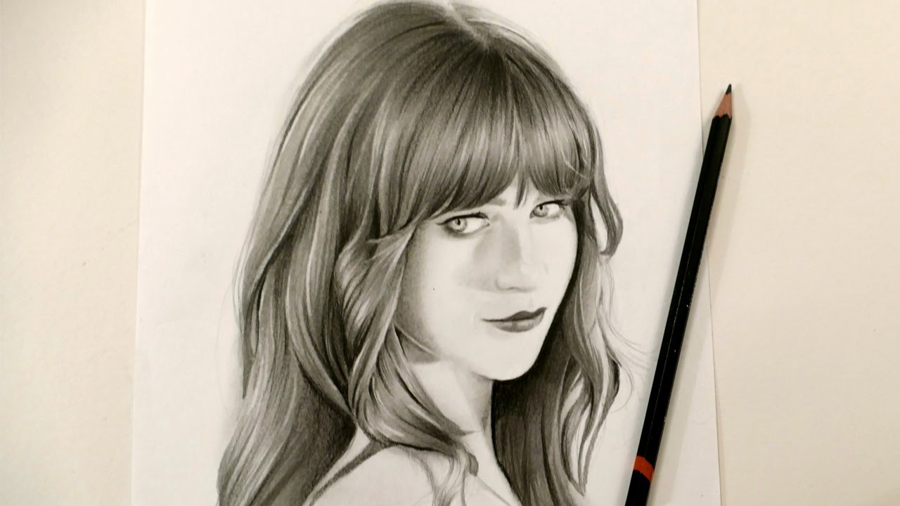How to draw realistic hair- Speed drawing tutorial - YouTube