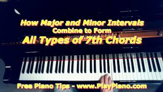How Major And Minor Intervals Combine To Form 7th Chords