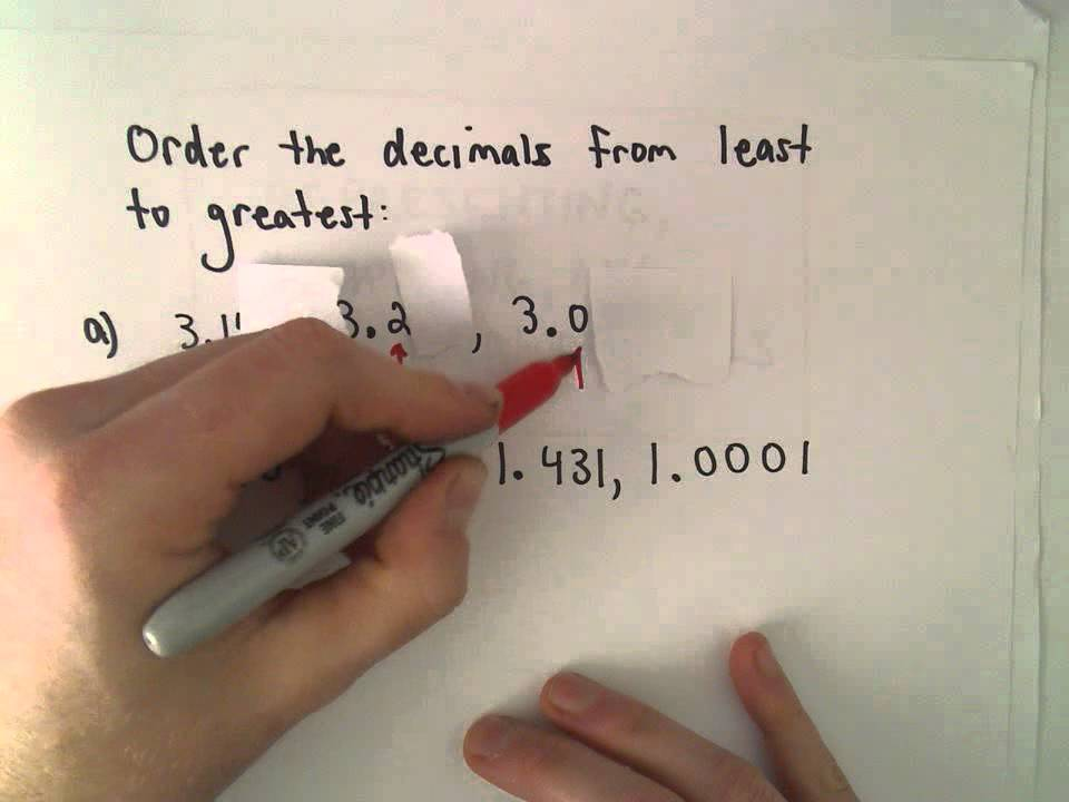 Ordering Decimals From Smallest To Largest Youtube
