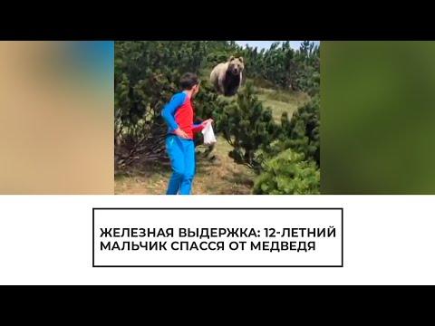 12-летний мальчик спасся от медведя