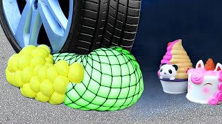 Crushing Crunchy and Soft Things by Car! Squishy, Floral Foam, Stress Balls & More