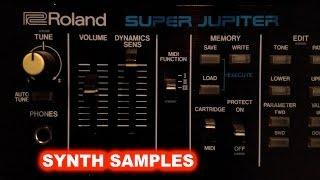 Roland MKS80 Super Jupiter Synth Samples Demo