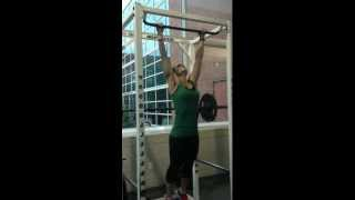 Girl Performing 20 Dead Hang Marine Corps Pull Ups (Girl doing pull ups)