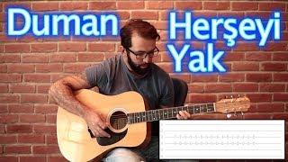 Duman Herşeyi Yak Akustik cover ve Nasıl Çalınır Gitar dersi: http:...