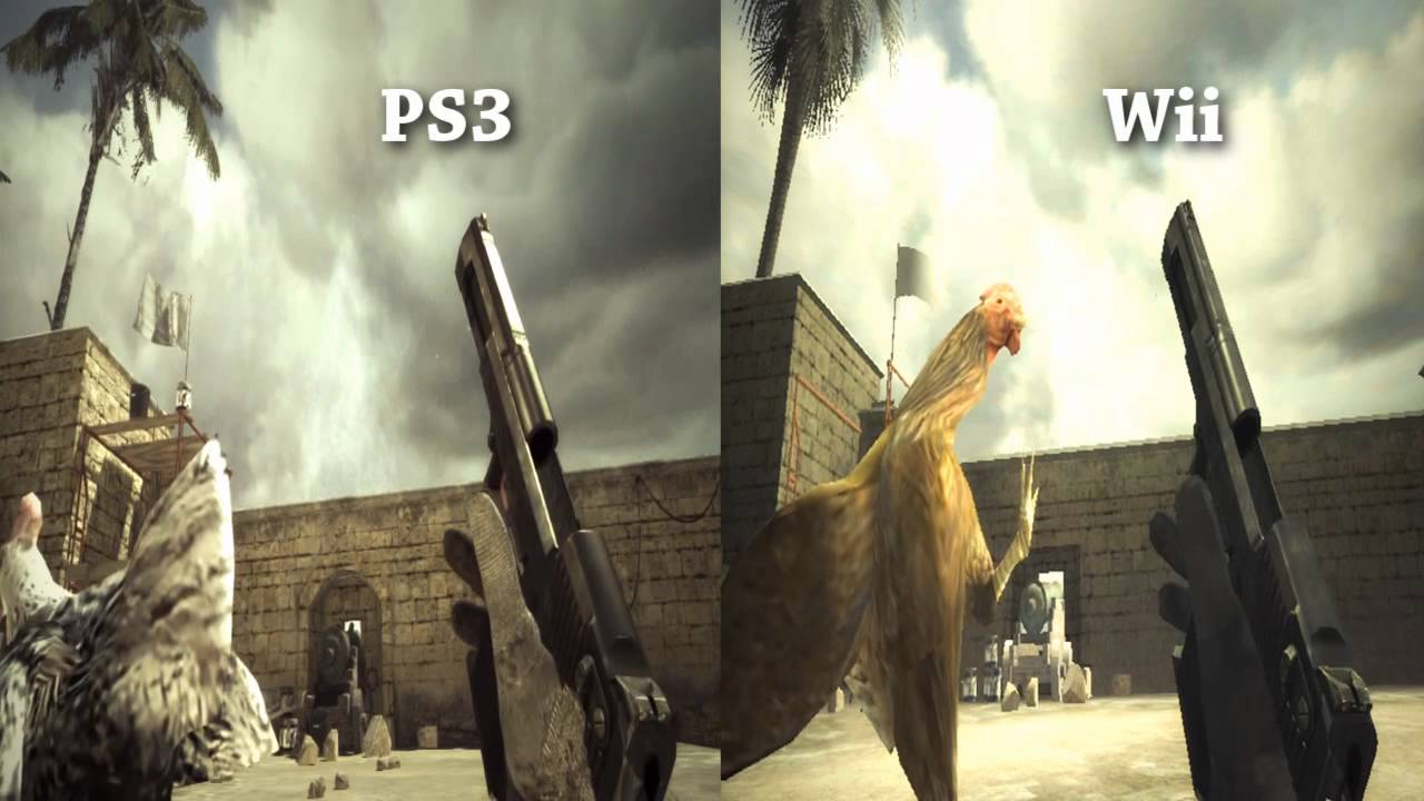 Wii And Ps3 Desert Eagle Mw3 Graphics Comparison Youtube